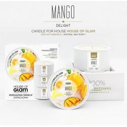 Świeca biała - Mango...