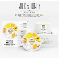 Świeca biała - Milk&Honey...